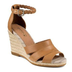 Sperry Skye Leather Espadrille Wedge Sandal